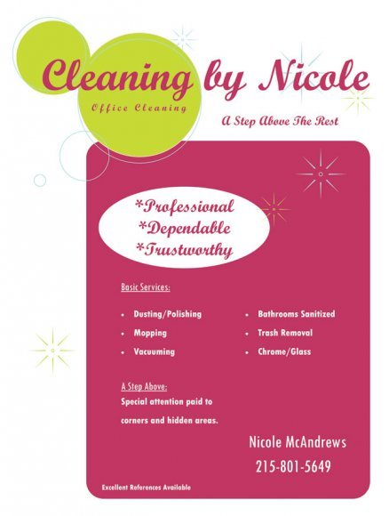 Cleaning by Nicole Flyer