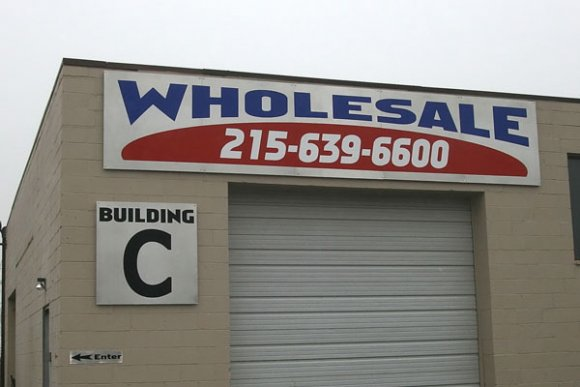 """Wholesale"" Business Sign"
