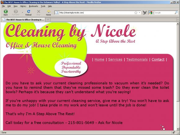 Cleaning By Nicole